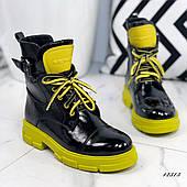 Женские ботинки лаковые