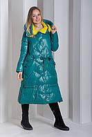 Пуховик Boruoss 3518 Зеленого цвета XL, фото 1