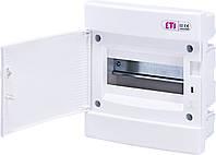 Встраиваемый щит IP40 ETI ECM-8PO 8 модулей 1101014 (распределительный, модульный, с белой дверцей)