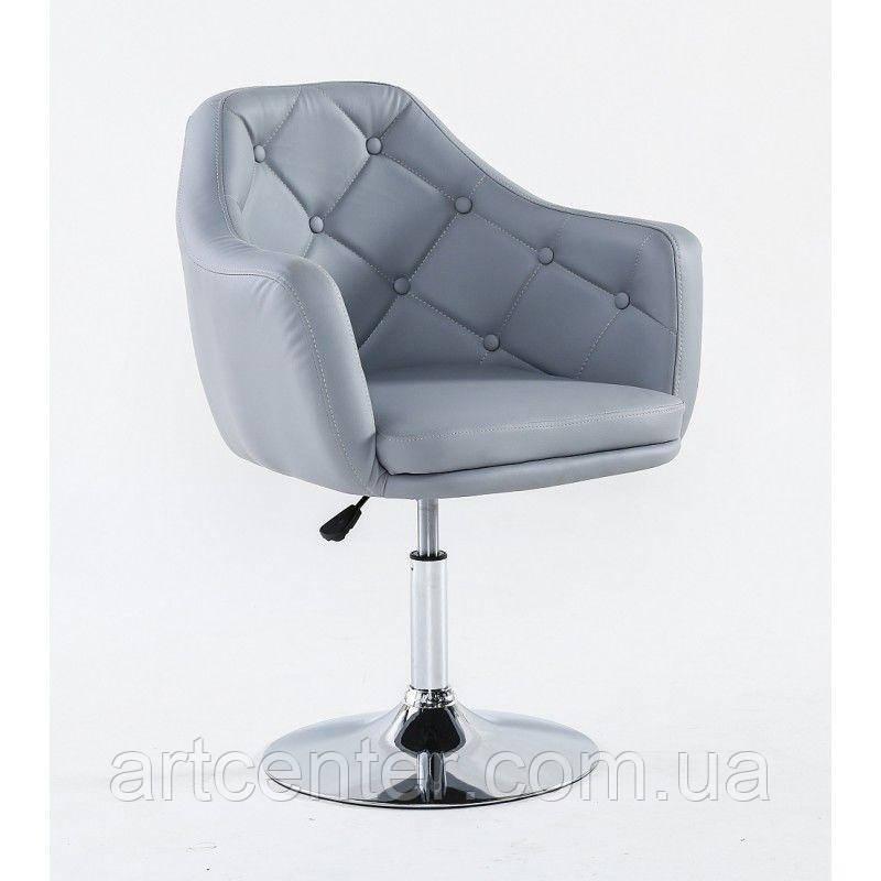 Парикмахерское кресло HC831 серое