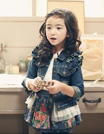 Дитяча джинсова куртка 130, 140