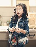 Дитяча джинсова куртка 130, 140, фото 1