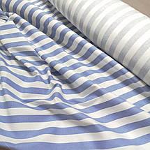 Ткань лен принт сиреневая полоска, фото 2