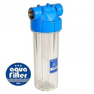 """Корпус фильтра натрубный, магистральный 10"""" для механической очистки AquaFilter FHPR12-B-AQ"""