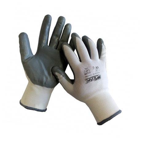 Рукавички робочі з нітриловим покриттям Werk WE2109H (68299)