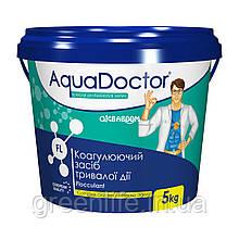Средство для осветления воды (флок) Aquadoctor FL в гранулах (5 кг), Аквадоктор.