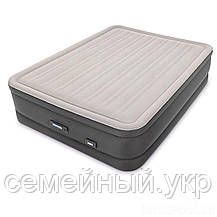 Надувная велюр кровать с электронасосом 220В. Размер: 152х203х46 см. Нагрузка: 273 кг. Intex 64770, фото 2