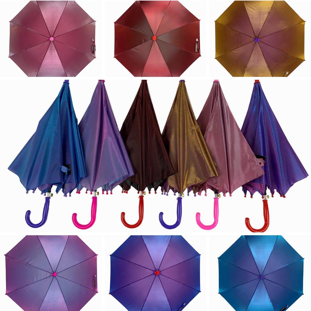 """Детский зонт трость """"хамелеон"""" однотонный, Flagman, разные цвета, 502"""
