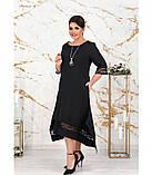 Платье женское большого размера цвет-черный, фото 2