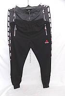 Штаны мужские спортивные весна-осень на манжете Reebok (цвета: черный, синий, серый) оптом