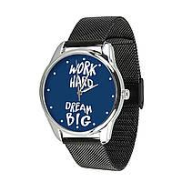 """Часы наручные """"Мечтай работай"""" + дополнительный ремешок"""