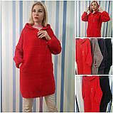 Пальто с капюшоном на молнии из шерсти альпака, фото 2