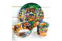 Набор детской посуды из 3 предметов Brawl Stars (Бравл Старс)