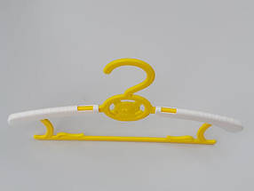 """Плечики """"Мишка раздвижной"""" желтого цвета, длина от 28,5 см до 36,5 см, фото 3"""