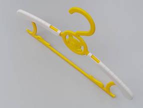 """Плечики """"Мишка раздвижной"""" желтого цвета, длина от 28,5 см до 36,5 см, фото 2"""
