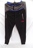 Штаны мужские спортивные весна-осень на манжете Under (цвета: черный, синий, серый) оптом