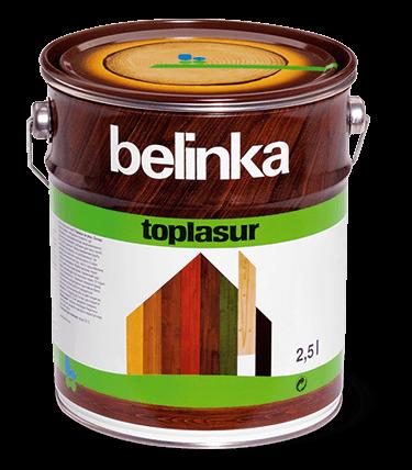 BELINKA Toplasur, лазурь для дерева, эбеновое дерево (чёрная, 22), 2,5л