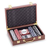 Набор для покера в кожзам чемодане на 200 фишек с номиналом р-р 30,5х21х7,5см (PK200L)