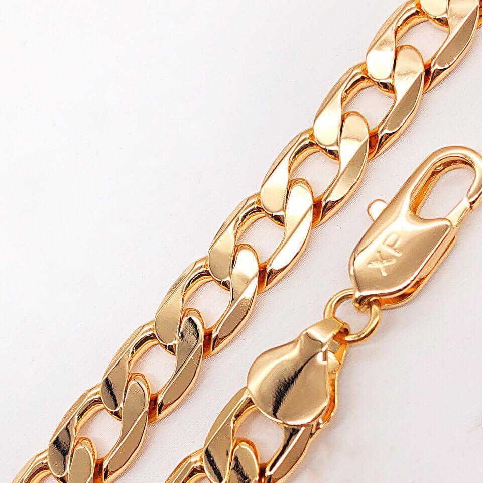 Браслет Xuping Jewelry 21 см х 10,5 мм Панцирный медицинское золото позолота 18К А/В 4-0029
