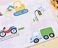 Сатин (хлопковая ткань) машинки и грузовики (70*160), фото 3