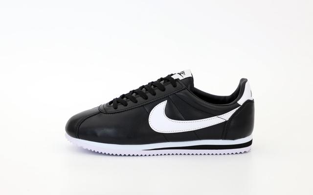 Мужские черные кожаные кроссовки Nike Cortez фото
