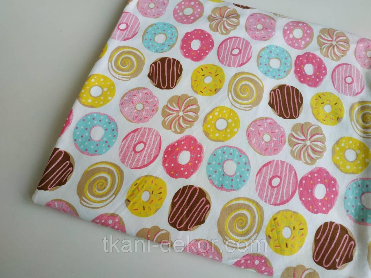 Трикотаж детский (хлопковая ткань) сладости