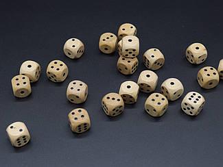 Кістки гральні дерев'яні. 16 мм.