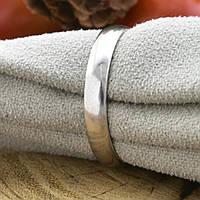 Серебряное обручальное кольцо П1014 вес 2.1 г размер 17