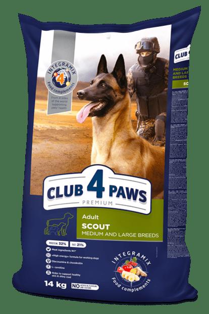 Клуб 4лапы Scout 14кг +5 кг для собак крупных и средних пород.