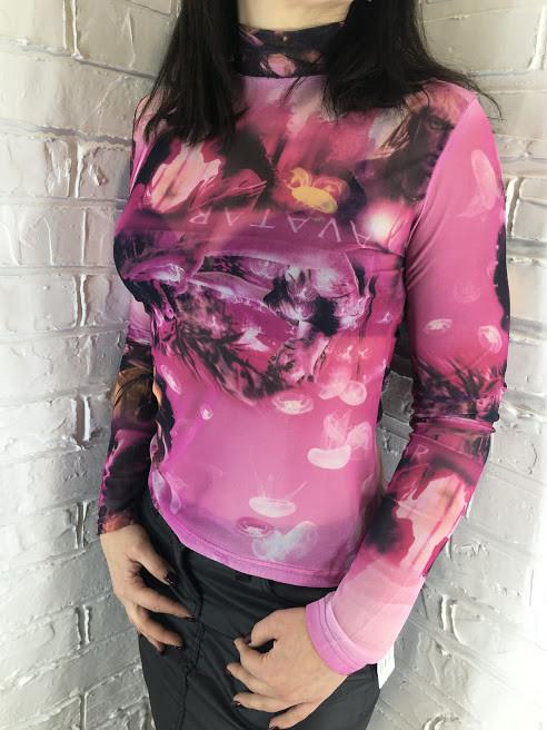 Гольф женский сетка розовый 42-46