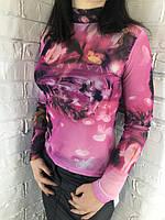 Гольф жіночий сітка рожевий 42-46