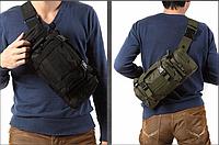 Рюкзак-сумка тактическая Molle на пояс или плечо, 6 Литров, 2 Цвета, фото 1