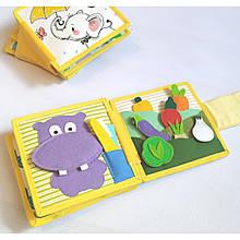 Книжечка-игрушка для детей развивающая ручной работы 9