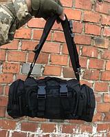 Рюкзак-сумка тактична Molle на пояс або плече, 6 Літрів, Чорний, фото 1