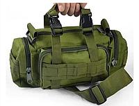 Рюкзак-сумка тактическая Molle на пояс или плечо, 6 Литров, Олива, фото 1