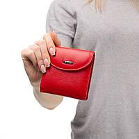 Маленький кожаный женский кошелек Kafa с блокировкой RFID-сигналов, красный