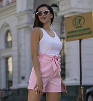 Модные шорты с высокой посадкой со съемным поясом и карманами