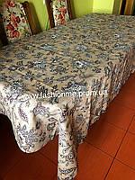 Скатерть льняная  с очень стильным орнаментом, лучший подарок женщинам (кухонный стол)