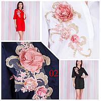 """Платье-рубашка женское нарядное с 3D аппликацией, размер 42-48 (4цв) """"SPRING"""" недорого от прямого поставщика"""