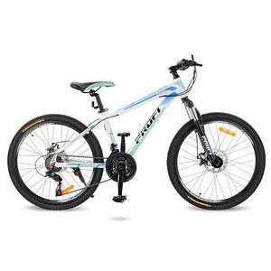 """Велосипед для спорта и прогулок Profi 24"""" G24PRECISE A24.2 бело-голубой"""