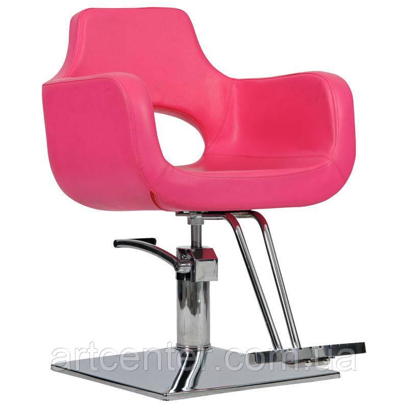 Парикмахерское кресло Mediolan розовое