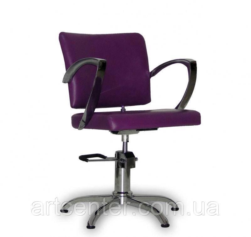 Парикмахерское кресло Palermo фиолетовое