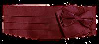 Пояс для смокинга бордовый / кушак,камербанд, фото 1