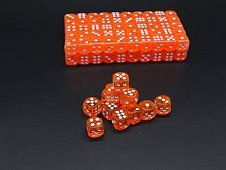 Кістки гральні. Колір оранжевий. 14мм