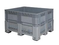 Ящик-паллета Tekne 6600, внешние/внутренние размеры 1200/1110х1000/920хН760/710мм, объем 650Л, вес 34кг