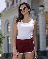 Комфортные женские шорты из трикотажа на низкой посадке
