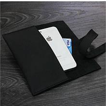 Чехол для смартфона кожаный черный