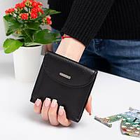 Маленький кожаный женский кошелек Kafa с блокировкой RFID-сигналов, черный