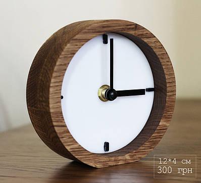 Часы дизайнерские с дерева и акрыла (12*12*4 см)
