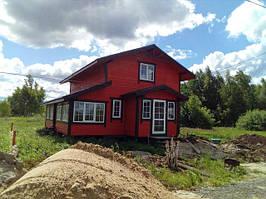 Деревянные каркасно щитовые дома, строительство фото